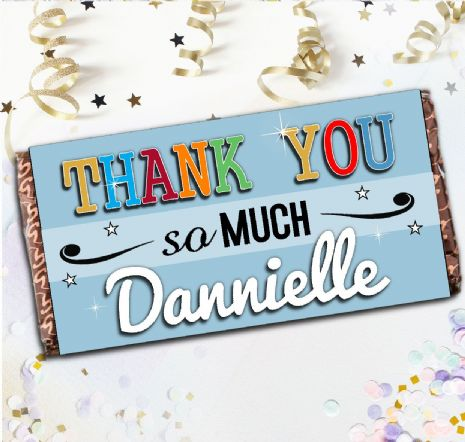 Personalised Thank You Milk Chocolate Bar - Gift N136